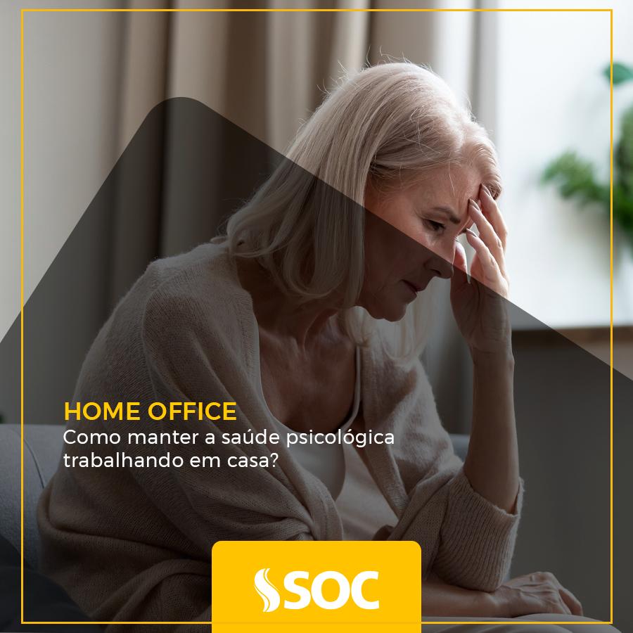 Como manter a saúde psicológica trabalhando em casa?